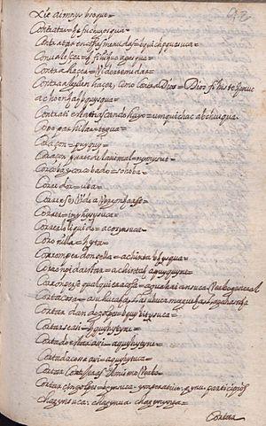 Manuscrito 158 BNC Vocabulario - fol 44r.jpg